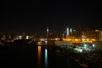 Night view from Long Island city