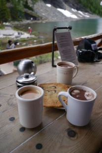Tea break at Lake Agnes Teahouse